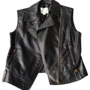 silence + noise vegan leather vest size s